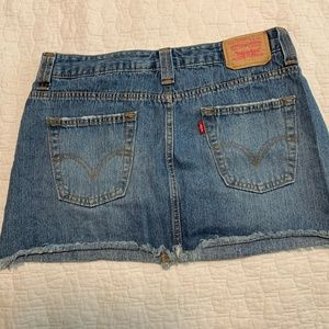 Levi's 518 Superflow Frayed Skirt Jr.9/WO 8